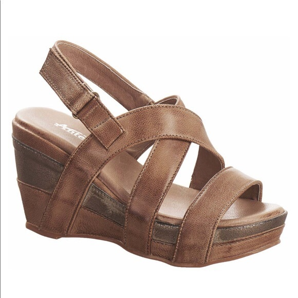 Antelope Shoes | Taupe Antelope Wedges